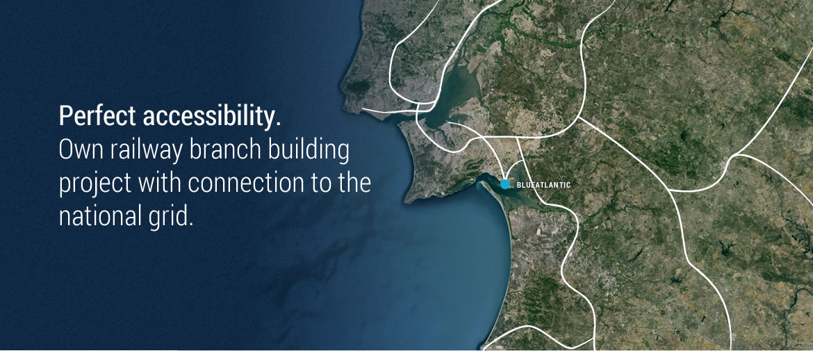 Blueatlantic has its own railway branch building project | Portuguese sea port - Blueatlantic